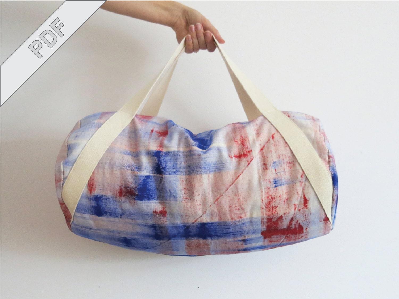 Nähanleitung mit Schnittmuster Sporttasche Duffle Duffel Bag