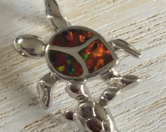 Mommy Turtle and baby, Sterling Silver Turtle Pendant necklace made by Seyshelles, Mothers Day.