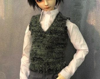Sweater vest for 60cm SD13 BJD boy Go Green