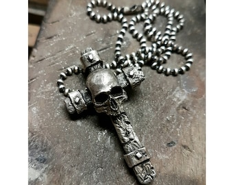 Skull cross Sterling Silver Pendant