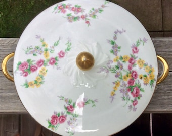 Gorgeous Limoges France Covered Serving Dish