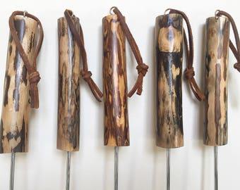 Roasting stick, hot dog stick, marshmallow stick, campfire stick, Set of 4, personalized, tree branch stick
