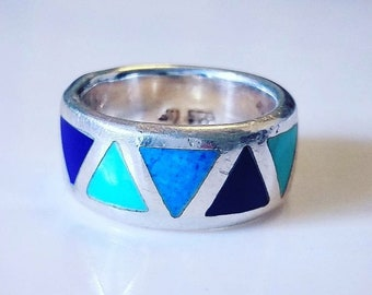 Native American Turquoise and Lapis Ring