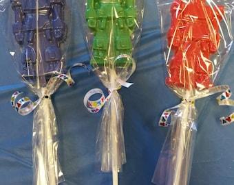 Chocolate Robot Lollipops