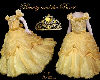 Beauty and the beast dress overlays, fairytale, A rose in a glass dome, Chandelier