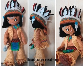 Indian crocheted doll
