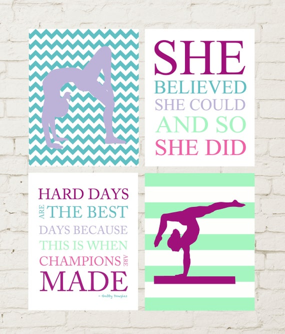 She believed she could inspirational gymnastics quotes hard