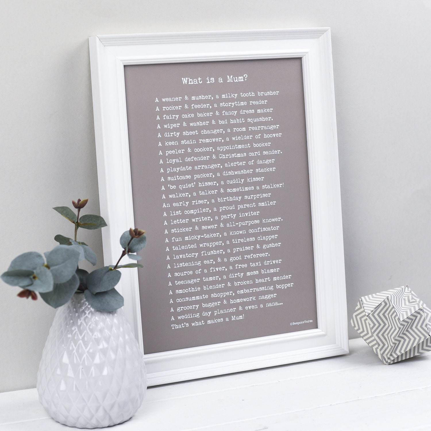 Mum Poem Print Personalised Mothers Day Gifts What is a