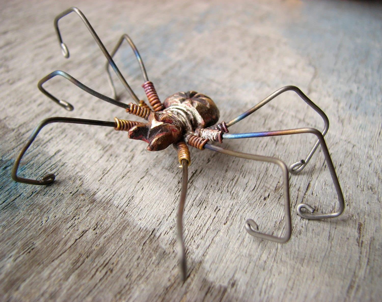 Spinne Ohrring große Titan baumeln