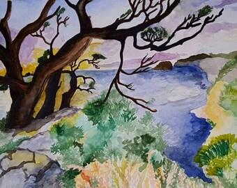 Nature Landscape Watercolor