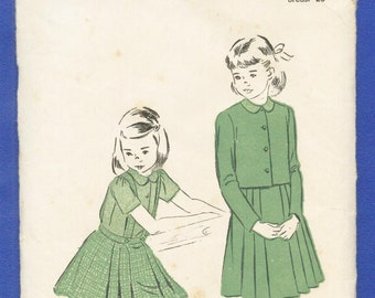1950s Girls' Jacket, Blouse and Suspender Skirt   Size 4 - Advance Sewing Pattern 5133
