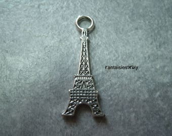 (BA6) A wonderful color Silver 3.2 cm 3D Eiffel Tower charm