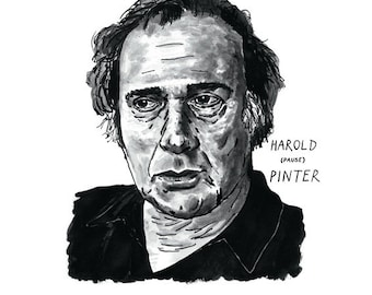 Harold Pinter Poster Print Great Playwright Literary Poster Print