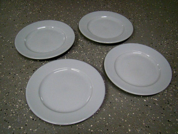 & Buffalo China Lune 9 Dinner Plates Made In USA Set