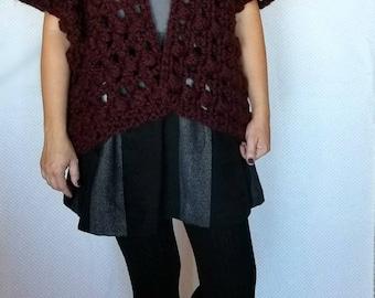 Crochet Cardigan PATTERN - Easy Crochet Pattern - Crochet Sweater Pattern - Crochet Top Pattern