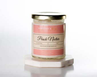 Peach Nectar Soy Candle,Hand-poured Candle, Scented Soy Candle, Gift, Premium Soy Candle, Unique Gifts