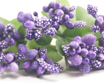 Bridal Hair Accessories, Purple  flora Hair Bobby Pin, Brass Bobby pin- set 10