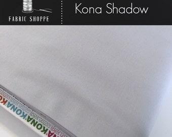 Kona cotton solid quilt fabric, Kona SHADOW 457, Gray fabric, Solid fabric Yardage, Kaufman, Cotton fabric, Choose the cut