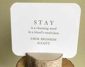 Best Friend Card, Alcott quote, Thank You Card, Gift for Best Friend