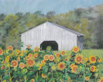 Barn Art, Custom Artwork, Farm Art, Farm Artwork, Barn Paintings, Farm Paintings, Farm House Art, Farm House Paintings, Pastel Paintings