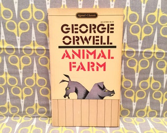 Animal Farm by George Orwell paperback book vintage
