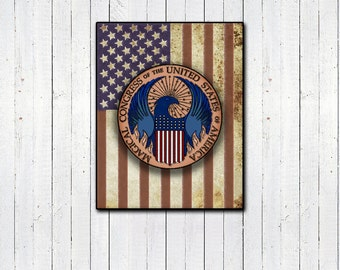 "Magical Congress of the USA Emblem 11x14"" Print- Fantastic Beasts and Where to Find Them, Ministry of Magic, Harry Potter, United States"