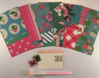 Floral Happiness - 6 Personal Size Filofax Dividers