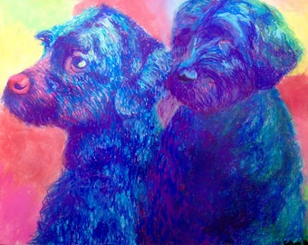 Portuguese Water Dogs Giclée Prints SIGNED & NUMBERED
