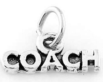 Sterling Silver Tiny Coach Word Charm