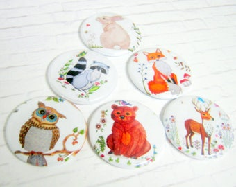 Wilderness Needle Minder Collection, Choose from 6 Animals of The Forest, Cross Stitch, Needlepoint, Embroidery, Needle Minder