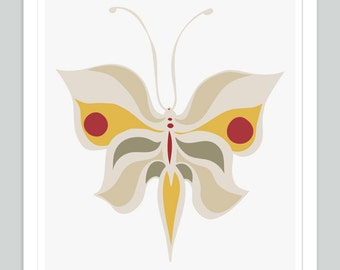 Butterfly Wall Art | Modern Butterfly Print