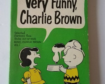 Very Funny, Charlie Brown 1950's Paperback Book