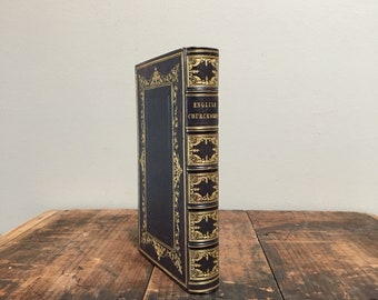 1845 Edition of English Churchwomen in the Seventeenth Century, Custom Full Leather Binding, Decoratively Bound Antique Book