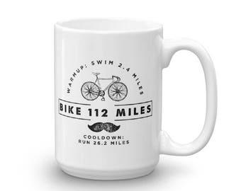 Iron Distance 140.6 miles Triathlon Triathlete Vintage Look Coffee Mug