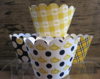 Yellow Submarine Standard Cupcake Wrappers