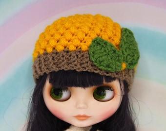 crochet Sunflower Blythe hat /beanie