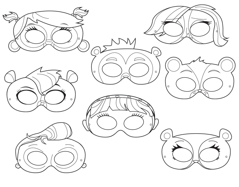 Small Pet Printable Coloring Masks pet mask little masks