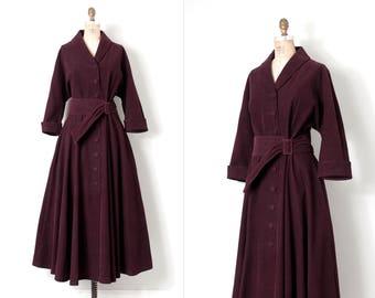 vintage 1970s princess coat • 70s does the 40s corduroy princess coat  • extra extra-large xxl
