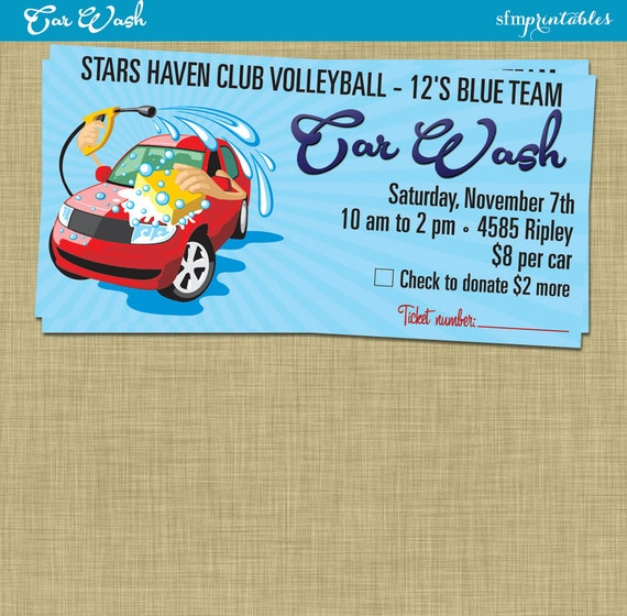 Car Wash Flyer / Fundraiser Church School Community Sports