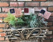 American Flag Sticks - Set of 3, Primitive, Fourth of July, Patriotic, Summer