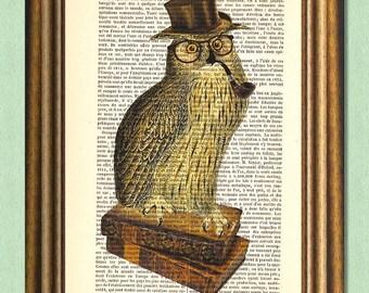 HIPSTER TEACHER -Dictionary Art Print- Wall Art
