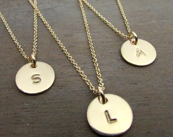 """Gold Letter Necklace 