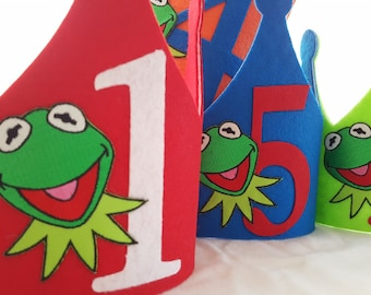 Kermit The Frog Birthday Crown - Muppets Party - Kermit The Frog Party Hat