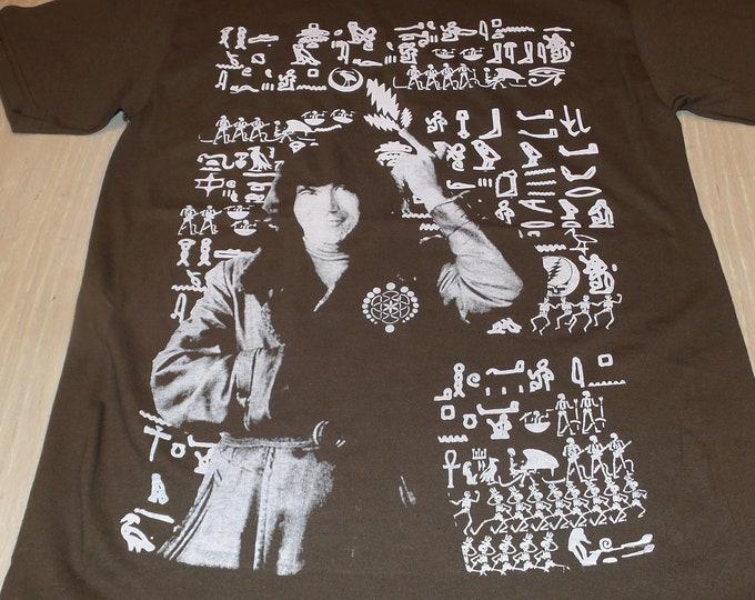 T-Shirt - Jerry Hieroglyphs (White on Brown)