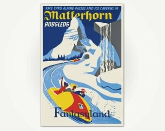 Matterhorn Bobsleds - Fantasyland Poster Print