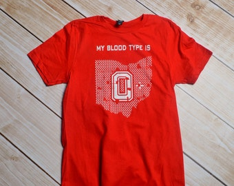 Ohio State, my blood type is 0 positive