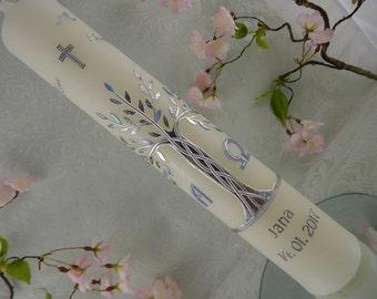 Communion candle - Baptism Candle Tree of Life - christening - baptism - baptism candles - personalised candles - baptism candles girls boys