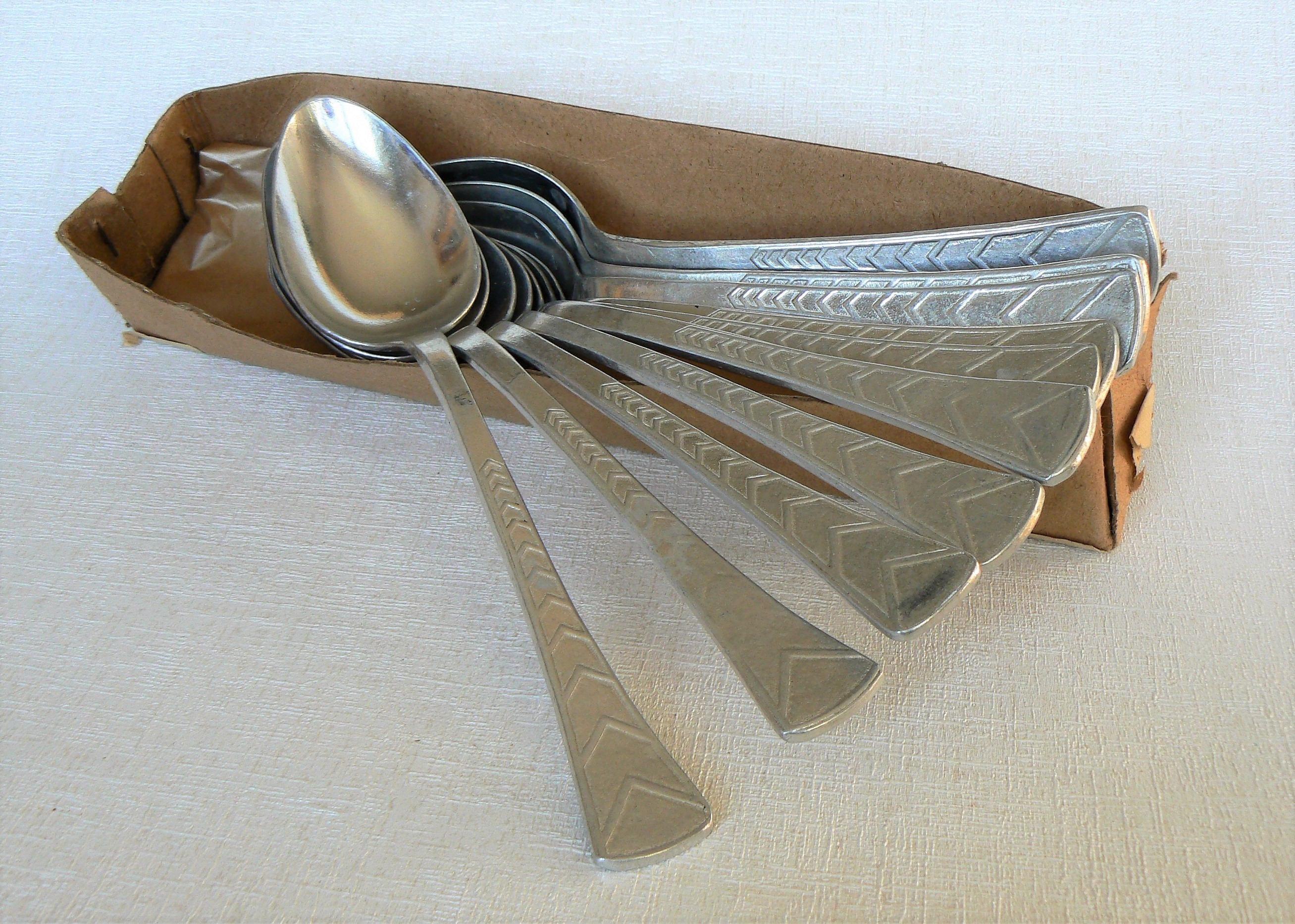 10 Suppe Löffel alt Vintage / Set von 10 Esslöffel /