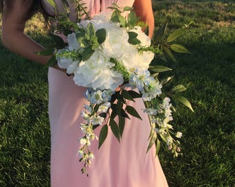 Bridal bouquet, wedding bouquet, boho bouquet, silk flowers, herbal bouquet