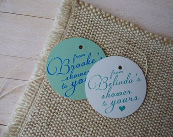 Thank You Tags. From my shower to yours tags. Favor Tags. Bridal Shower Tags. Baby Shower Tags. Set of 25 to 300 pieces